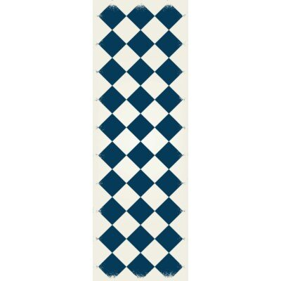 Wells Diamond European Design Blue/White Indoor/Outdoor Area Rug Rug Size: Runner 2 x 6
