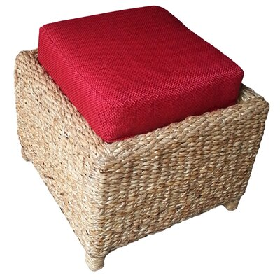 Mimbre Ottoman Upholstery: Red