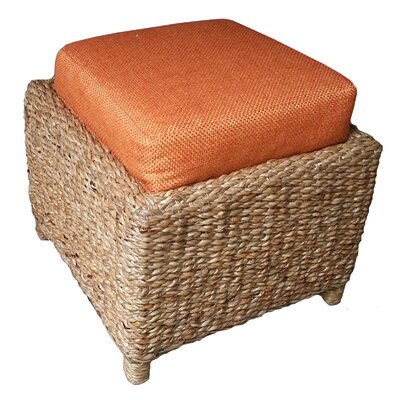 Mimbre Ottoman Upholstery: Orange