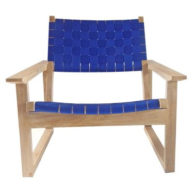 Leon Lounge Chair Upholstery: Blue