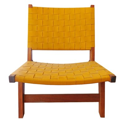 Sam Arm Chair Upholstery: Yellow / Brown
