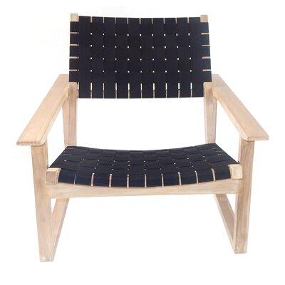 Leon Lounge Chair Upholstery: Black