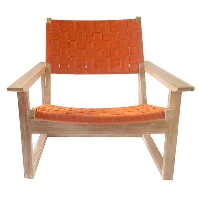 Leon Lounge Chair Upholstery: Orange
