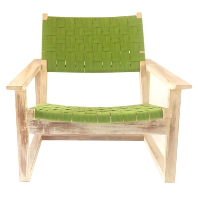 Leon Lounge Chair Upholstery: Green