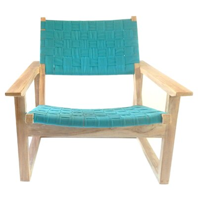 Leon Lounge Chair Upholstery: Aruba Blue