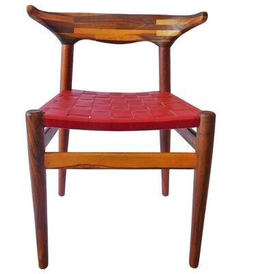 Cacho Side Chair Upholstery: Red