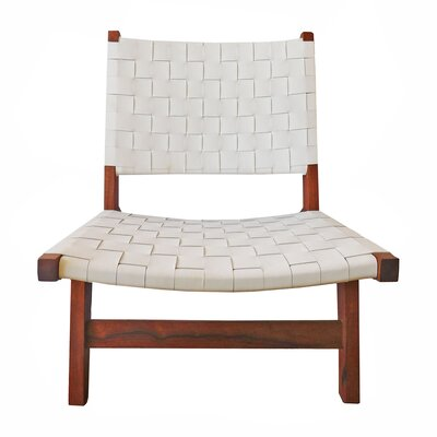 Sam Arm Chair Upholstery: White / Brown