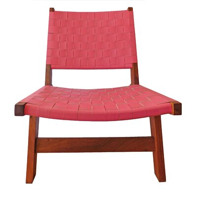 Sam Arm Chair Upholstery: Pink / Brown