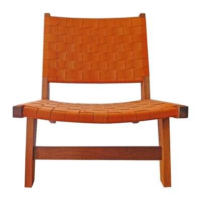 Sam Arm Chair Upholstery: Orange / Brown