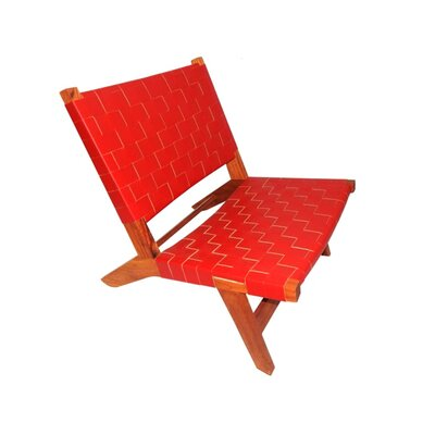 Sam Arm Chair Upholstery: Red
