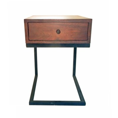 Hudson 1 Drawer Nightstand Color: Brown