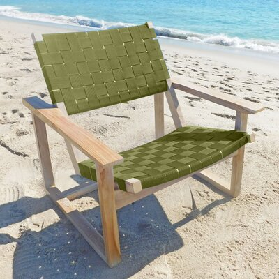 Leon Lounge Chair Upholstery: Army Green