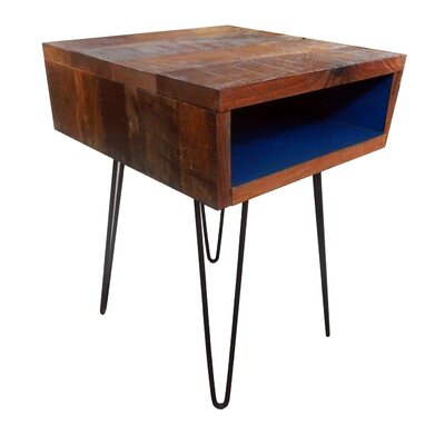 Ren End Table Finish: Black/Dark Blue
