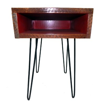 Ren End Table Finish: Black/Red