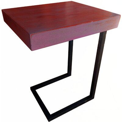 Esteli Wood End Table Finish: Red Washed