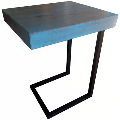 Esteli Wood End Table Finish: Blue Washed