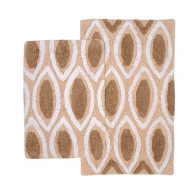 Amanda 2 Piece Bath Rug Set Color: Brown/Taupe