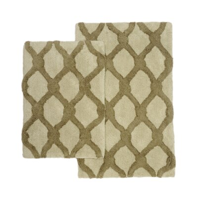 Amanda 2 Piece Bath Rug Set Color: Green/Sage