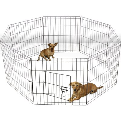 Exercise Dog Pen Size: 48.5 H x 25 W x 2 D
