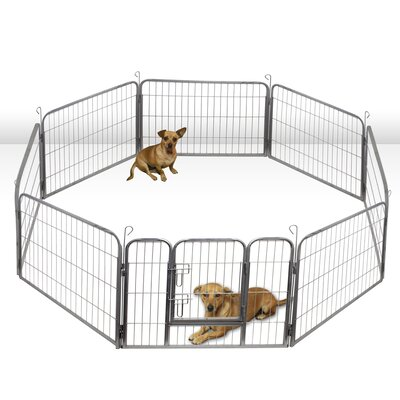 Heavy Duty Tube Play And Exercise Pet Pen Size: 24 H x 30.52 W