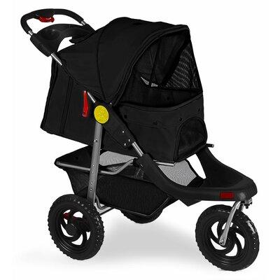 Foldable Jogger Pet Stroller Color: Black