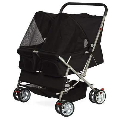 Double Side Foldable Standard Pet Stroller PTST04-BK