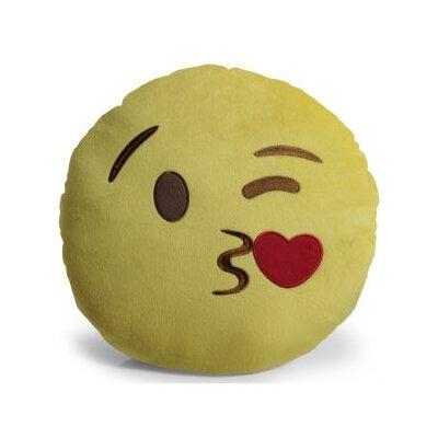Emoji Kissing Heart Pillow Throw Pillow