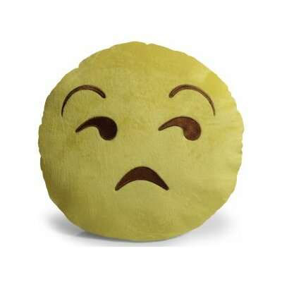 Emjoi Unamused Throw Pillow