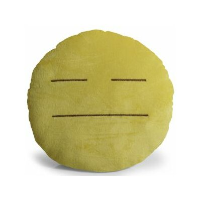 Emoji Expressionless Pillow Throw Pillow