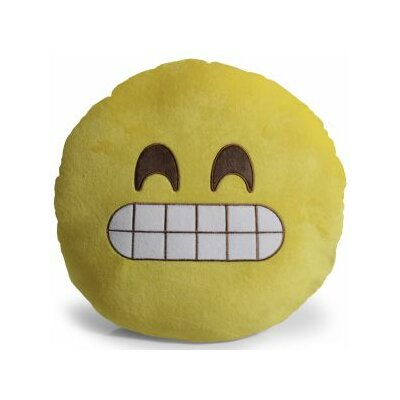 Emoji Grin Pillow Throw Pillow