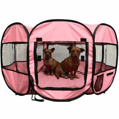 48 Soft Side Pop Up Dog Pen Color: Pink