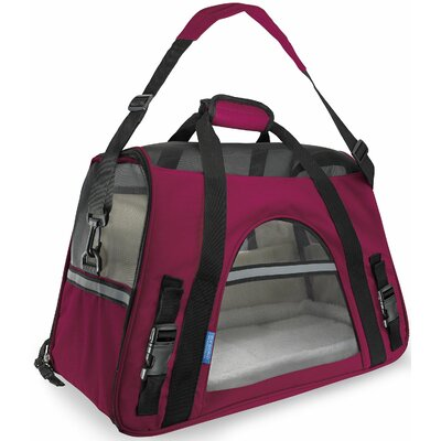 Pet Carrier with Fleece Bed Airline Approved Size: 19 H x 13 W x 10 D, Color: Hot Pink