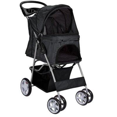 Pet Standard Stroller Color: Black
