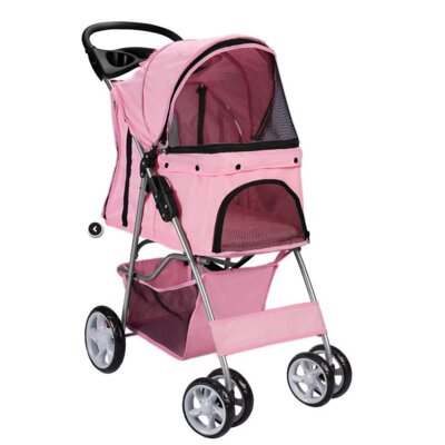 Pet Standard Stroller Color: Pink