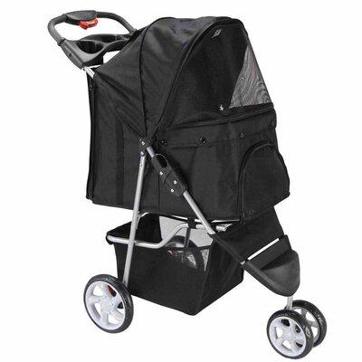 Foldable Standard Pet Stroller Color: Black