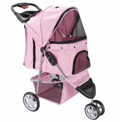 Foldable Standard Pet Stroller Color: Pink