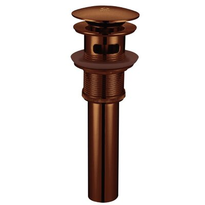 1.25 Pop-Up Bathroom Sink Drain With Overflow Finish: Oil Rubbed Bronze