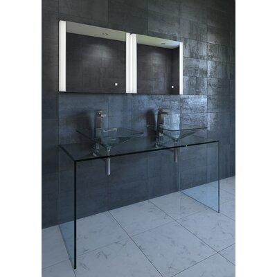 "Harra Contemporary Illuminated LED Bathroom Mirror Size: 23.75"" H x 36"" W x 1.25"" D"