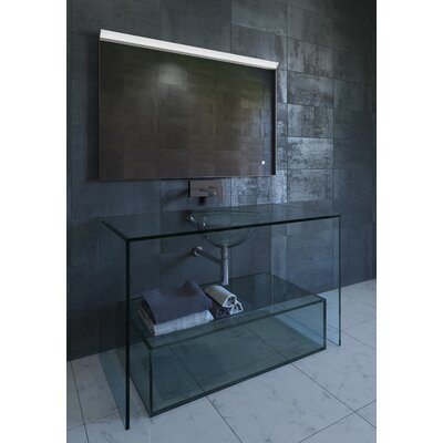 "Saga Contemporary LED Bathroom Mirror Size: 24.75"" H x 36"" W x 1.5"" D"