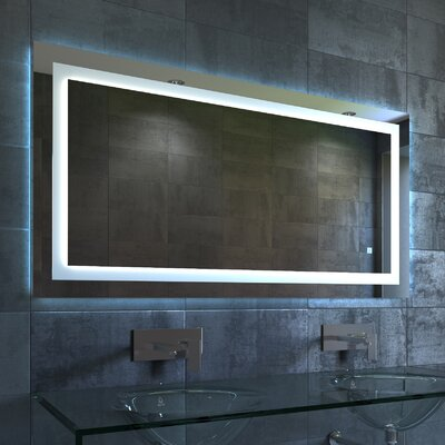 "Lavva Contemporary Illuminated LED Bathroom Mirror Size: 27.5"" H x 36"" W x 1.5"" D"