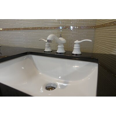 Mamba Series Widespread Double Handle Bathroom Faucet Finish: White