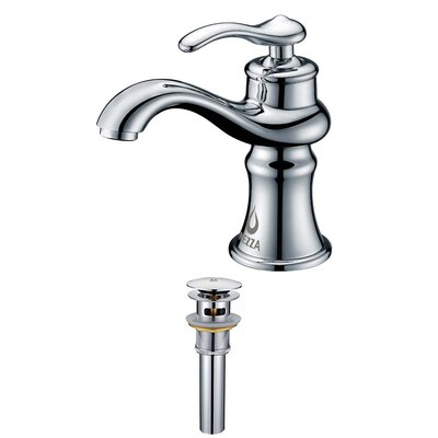 Mamba Single Handle Bathroom Sink Brass Faucet with Drain Assembly Finish: Chrome
