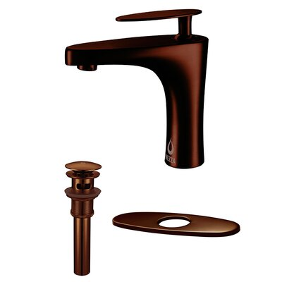 Cobra Single Handle Bathroom Faucet, Pop-up Drain Overflow with Deck Plate Finish: Oil Rubbed Bronze