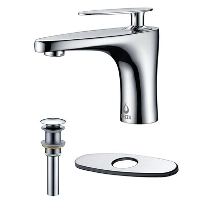 Cobra Single Handle Bathroom Faucet, Pop-up Drain without Overflow and Deck Plate Finish: Chrome