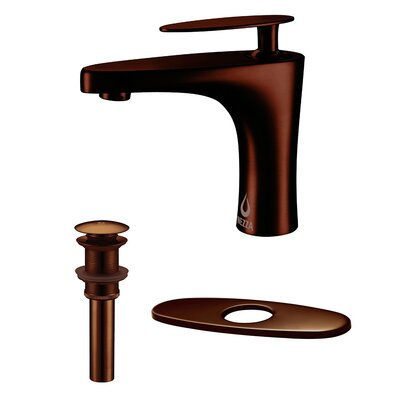 Cobra Single Handle Bathroom Faucet, Pop-up Drain without Overflow and Deck Plate Finish: Oil Rubbed Bronze