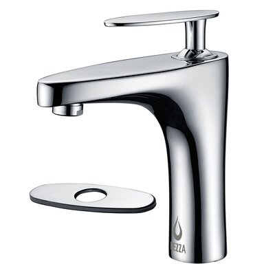 Cobra Single Handle Bathroom Faucet with Deck Plate Finish: Chrome