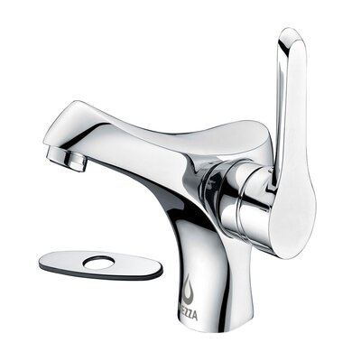 Falcon Single Handle Bathroom Faucet with Deck Plate Finish: Chrome