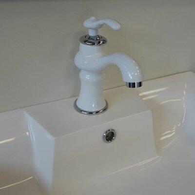 Mamba Series Bathroom Faucet Single Handle Finish: White