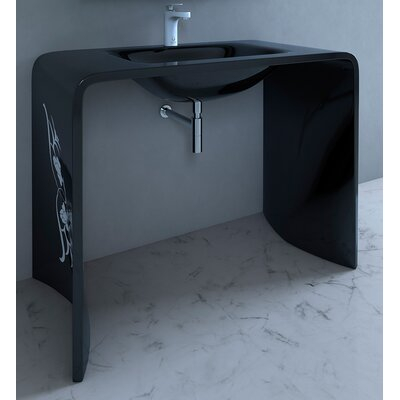 Odegaard 36 Single Bathroom Vanity Top Finish: Black
