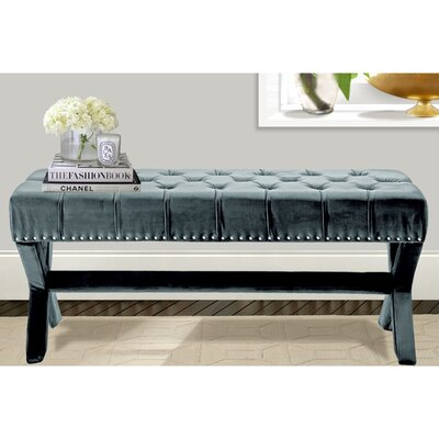 Iconic Home Burleigh Upholstered Bedroom Bench BH12-14SB-N1-WR